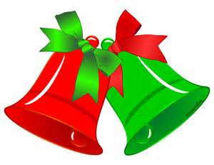 Original free christian clip art red and green christmas bells with