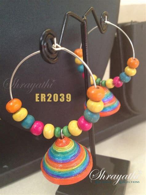 How To Make Paper Earrings Jhumkas - pin by krutika on fashion