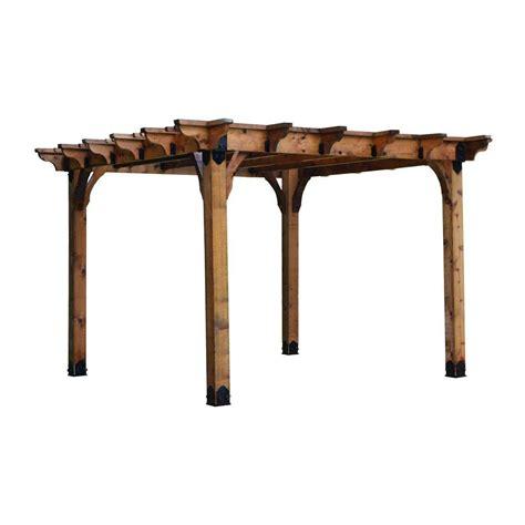 Design Craft Millworks 12 Ft X 12 Ft Wood Pergola In Pergola Home Depot