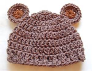 Newborn bear hat crochet pattern amp crochet baby bear hat