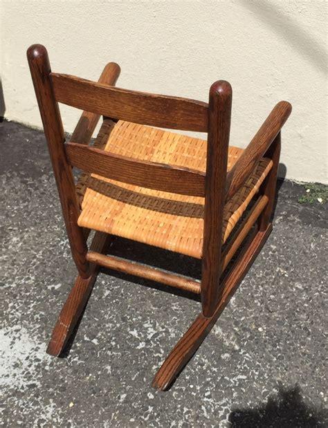 Antique Oak Rocking Chair by Antique Solid Oak Child Porch Doll Rocking Chair