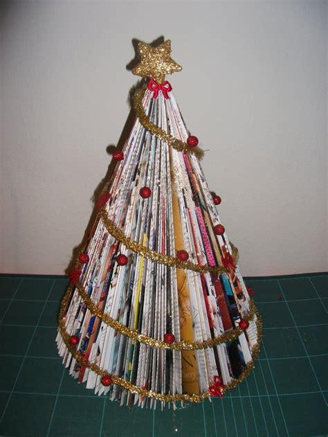 magazine christmas tree art pinterest
