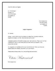 Resignation letter sample 187 resignation letter