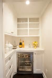 Tiny butler pantry corner wet bar sink open pantry cabinets jpg