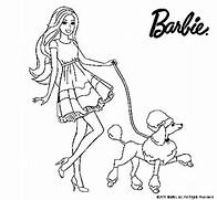 Dibujo de Barbie paseando a su mascota para Colorear - Dibujos.net