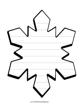 snowflake writing template snowflake writing template writing template