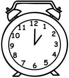 clock coloring page clock coloring pages 3