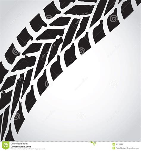 tire track background stock vector image  bicycle