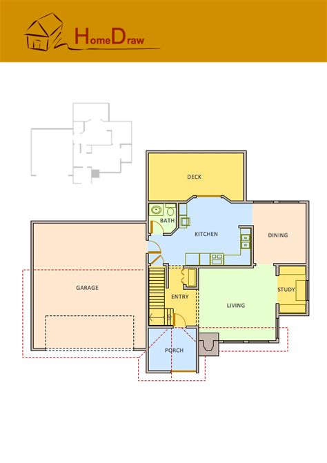 how to draw house plans free floor plans solution conceptdraw com