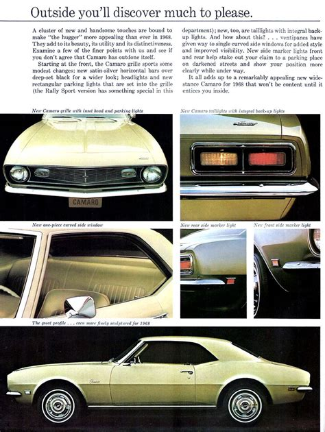 Popular Color Schemes 1968 Chevrolet Camaro My Classic Garage
