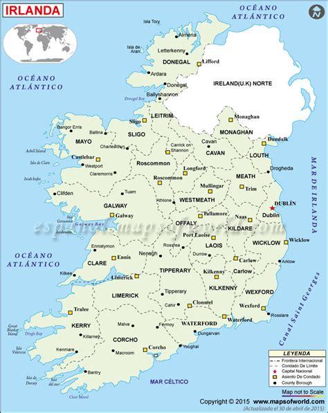 in irlanda irlanda mapa mapa de irlanda