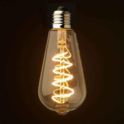 Edison Light Bulb Led 3 Watt Dimmable Spiral Filament Led E27 Clear Edison