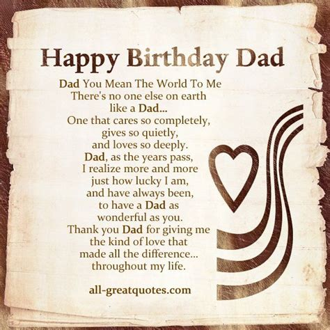 Birthday Quotes For Dads Serious Dad Birthday Card Sayings Dad Birthday Poems