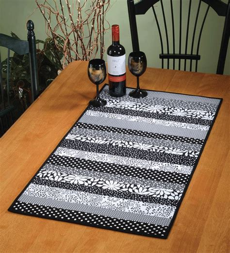 Quilt As You Go Patterns For Table Runner by Daystripper Quilt As You Go Table Runner Pattern Card