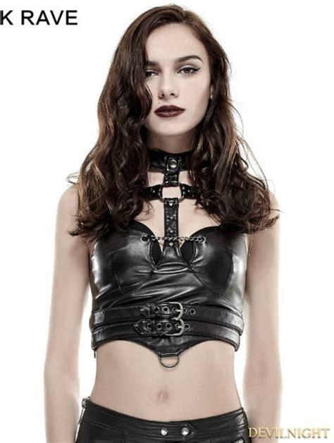 black gothic punk sexy vest  women devilnightcouk
