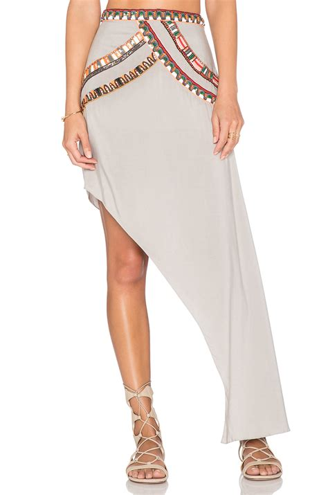 Two Side Draped Skirt pia pauro one sided drape skirt in gray lyst