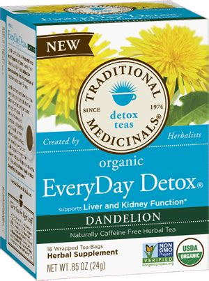 Every Day Detox Tea For Cholesterol by Dandelion Greens Green Tonic