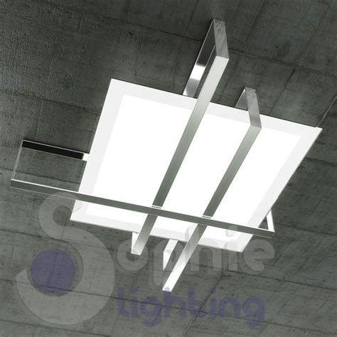 plafoniere design soffitto plafoniera soffitto design minimal acciaio cromato