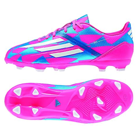adidas  trx fg youth soccer cleats solar pinkrunning