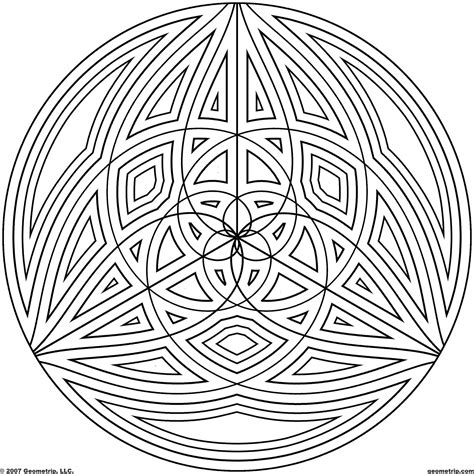 geometric circle coloring pages geometric coloring pages bestofcoloring com