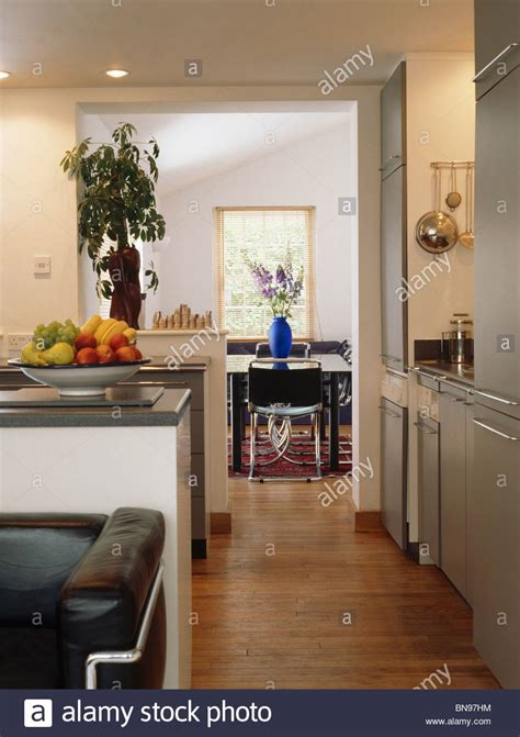 open plan flooring wooden flooring in small modern open plan kitchen with