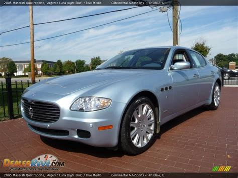 maserati light blue 2005 maserati quattroporte argento light blue