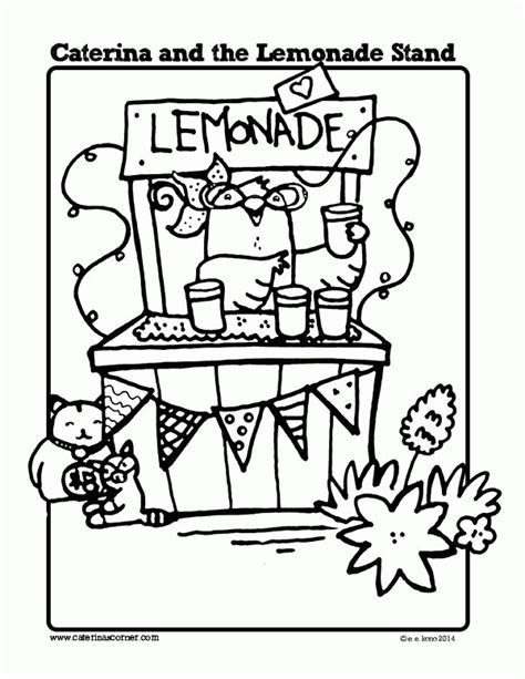 lemonade stand coloring page coloring home