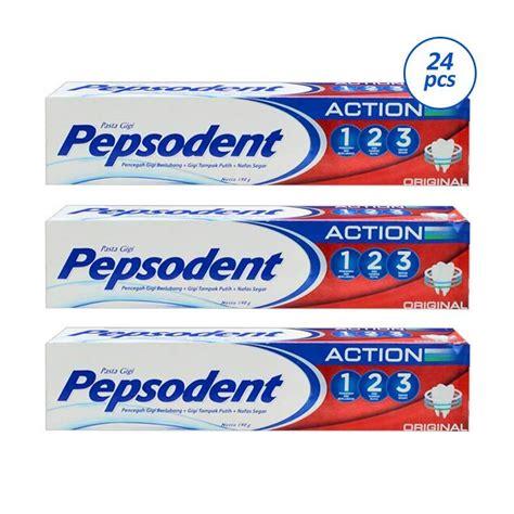 jual pepsodent 123 original toothpaste 24 pcs 190