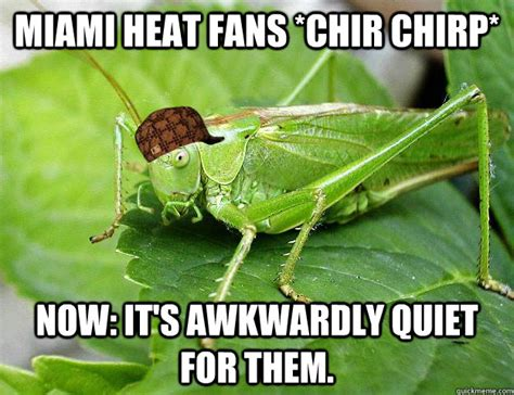 miami heat fans chir chirp now it s awkwardly quiet for