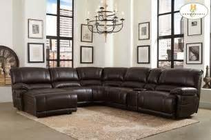 modern brown leather reclining sectional sofa recliner