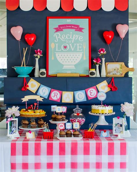 kitchen party ideas retro kitchen bridal shower with lots of really cute ideas via kara s party ideas