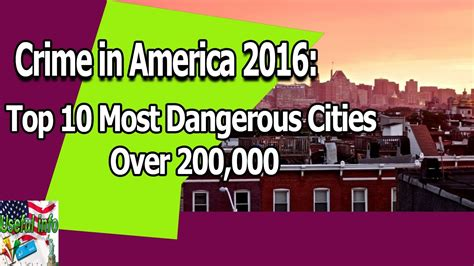 what city has the most murders in 2016 crime in america 2016 top 10 most dangerous cities