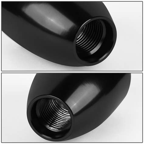 shift knob racing universal 6 speed mt 10x1 5 aluminum racing shift knob black