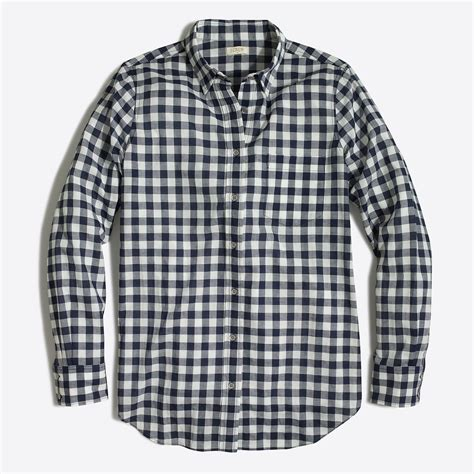 Gingham Shirt gingham classic button shirt in boy fit