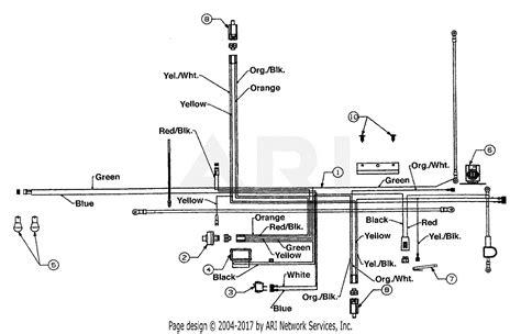mtd amf  parts diagram  electrical tecumseh