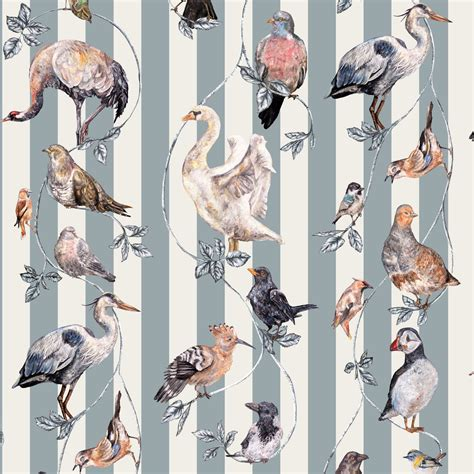 house of hackney flights of fancy grey stripe by house of hackney wallpaper direct