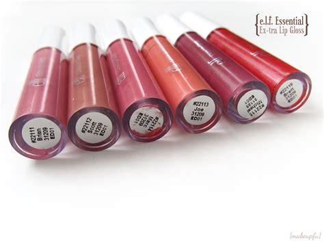 Essential Shimmer Lip Gloss e l f essential ex tra lip gloss review makeupfu