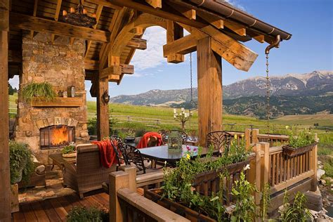 Stone Fireplace Decor 25 awesome rustic decks that offer a tranquil escape