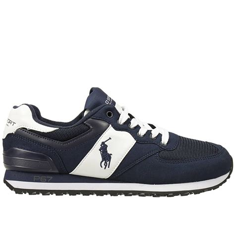 polo sneakers mens polo ralph sneakers shoes in blue for lyst