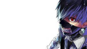 Cool tokyo ghoul wallpaper with kaneki ken in blue hairs hd