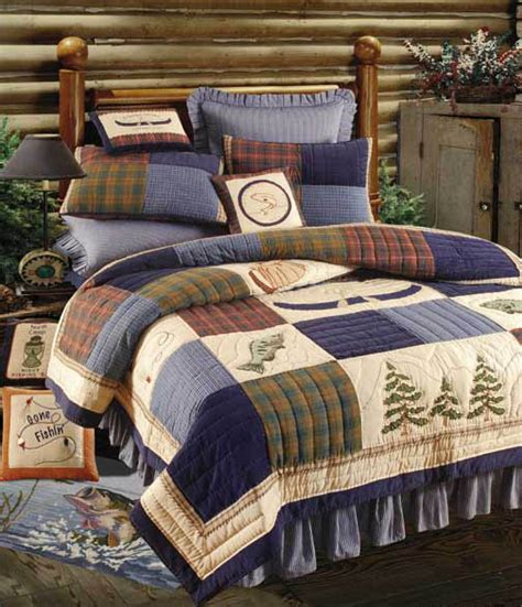 Northern Fishing Quilt & Bedding by C&F Enterprises