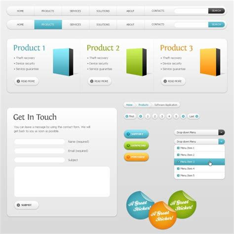 product layout psd product web design psd free vector graphic download