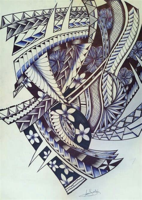 tongan tribal tattoo tongan tattoos design and leaves