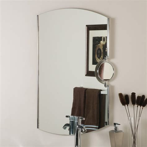 Shop Bathroom Mirrors Shop Decor 25 In X 35 4 In Chrome Arch Framed Bathroom Mirror At Lowes