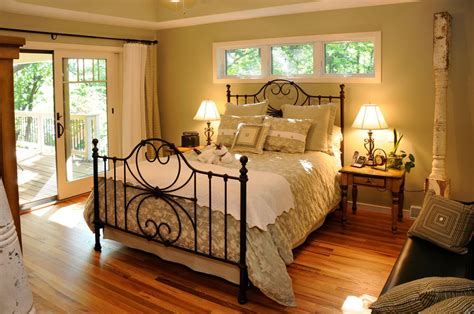 country master bedroom with flush light by jg development