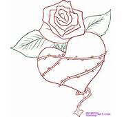 How To Draw A Thorned Heart Step By Tattoos Pop Culture FREE