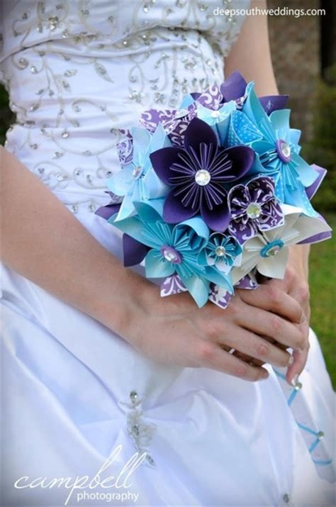 How To Make Origami Bouquet - origami bouquet weddingbee photo gallery