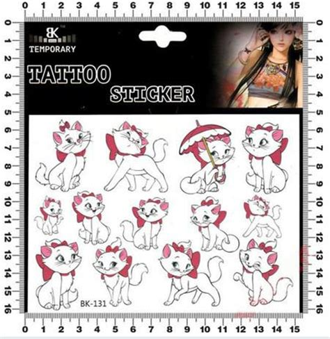 temporary tattoo paper perth marie cat the aristocats tattoo stickers for boys girls