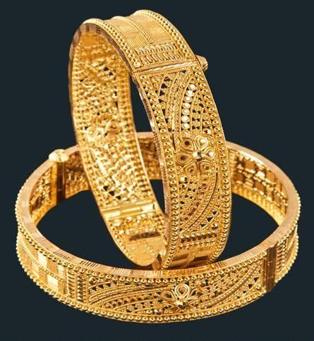 Designer Gold Bangles in Kolkata, West Bengal, India   M