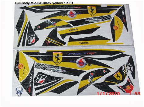 Stiker Striping Motor Mio Gt 2014 jual striping sticker mio gt motor